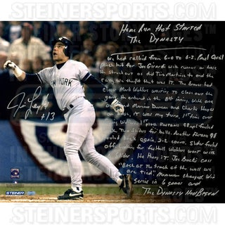 Jim Leyritz Signed Home Run Dynasty 16x20 Story Photo