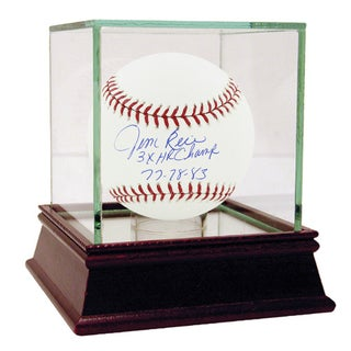 "Jim Rice Signed MLB Baseball w/ ""3x HR Champ 77, 78, 83"" insc"