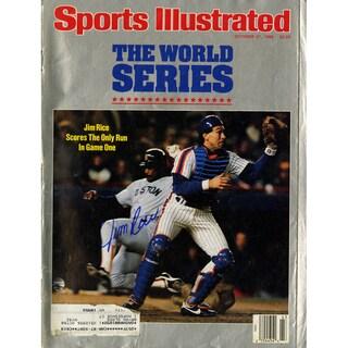 Jim Rice Signed 10/27/86 Sports Illustrated Magazine