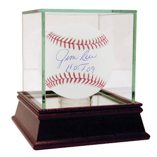 "Jim Rice MLB Baseball w/ ""HOF 09"" Insc."