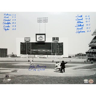 Jim Bunning Perfect Game Box Score 16x20 w/ 12 Inscriptions