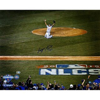 Jeurys Familia Signed NLCS Celebration w/ NLCS Logo 16x20 Photo (MLB Auth)