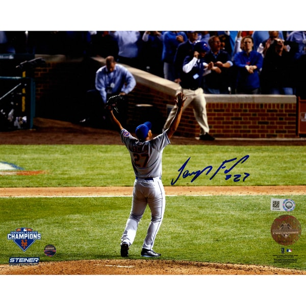 Jeurys Familia Signed NLCS Celebration from Back 8x10 Photo (MLB Auth)
