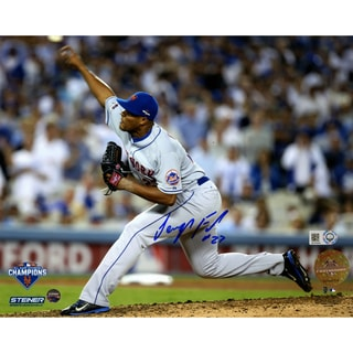 Jeurys Familia Signed 9th Inning 2015 NLDS Game 5 Pitching 8x10 Photo