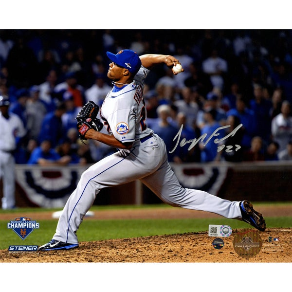 Jeurys Familia Signed 9th Inning 2015 NLCS Game 4 8x10 Photo (MLB Auth) (Signed In Silver)