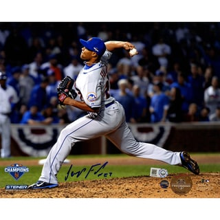 Jeurys Familia Signed 9th Inning 2015 NLCS Game 4 8x10 Photo (MLB Auth)