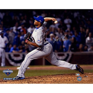 Jeurys Familia Signed 9th Inning 2015 NLCS Game 4 16x20 Metallic Photo (MLB Auth)