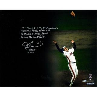 "Jesse Orosco Signed 1986 World Series Last Out Celebration ""Mini Story"" 16x20 Photo"