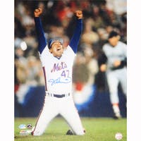 Jesse Orosco 1986 Last Out Celebration 8x10 Photograph