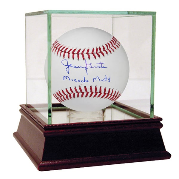 """Jerry Grote Signed MLB Baseball w/ """"Miracle Mets"""" Insc"""