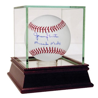 Jerry Grote Signed MLB Baseball w/ Miracle Mets Insc