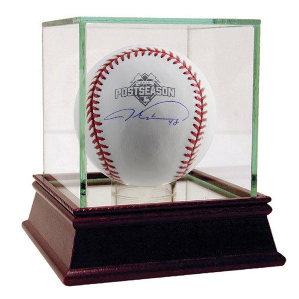 Jacob deGrom Signed Rawlings MLB 2015 Postseason Logo Baseball