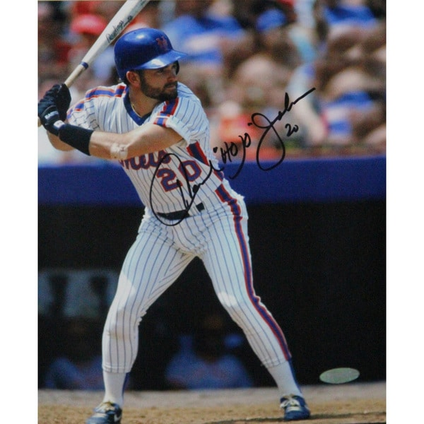 "Howard ""Hojo"" Johnson Signed Batter's Box  8x10 Photo (Signed In Black)"