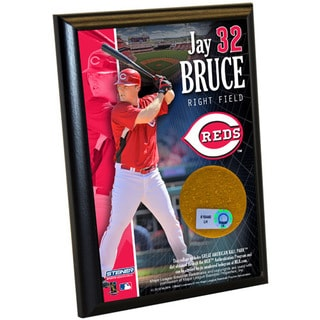 Jay Bruce Reds 4x6 Dirt Plaque