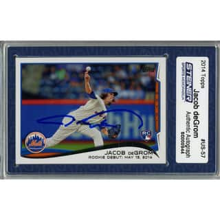 Jacob deGrom Signed 2014 Topps Rookie Card (Slabbed by Steiner)|https://ak1.ostkcdn.com/images/products/11204200/P18193294.jpg?impolicy=medium