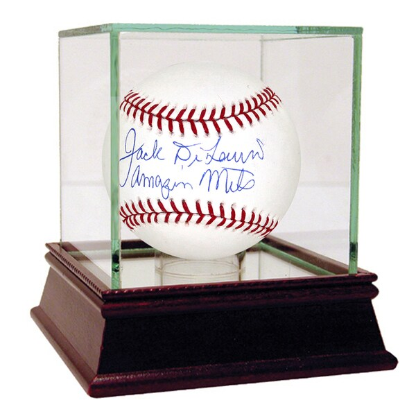 "Jack DiLauro Signed MLB Baseball w/ "" Amazing Mets ""Insc"