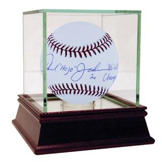 """Howard """"Hojo"""" Johnson MLB Baseball w/ """"86 WS Champs"""" Insc."""