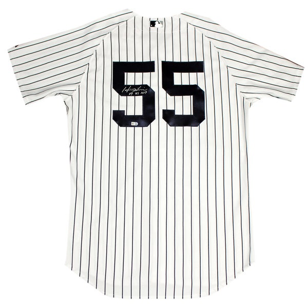 "Hideki Matsui Signed New York Yankees 2009 WS Patch Pinstripe Jersey Signed On Back w/ ""09 WS MVP"" insc (MLB Auth)"