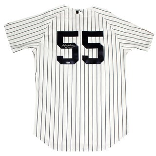 Hideki Matsui Signed New York Yankees 2009 WS Patch Pinstripe Jersey Signed On Back w/ 09 WS MVP insc (MLB Auth)