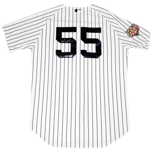 Hideki Matsui Signed New York Yankees 2009 WS Patch Pinstripe Jersey Signed On Back (MLB Auth)