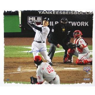 Hideki Matsui 2009 World Series, Game 6: 2 Run Home Run 22x26 Canvas (MLB Auth)