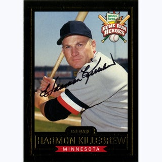 Harmon Killebrew Signed Minnesota Twins Hillshire Farms Home Run Heroes Card (JSA)
