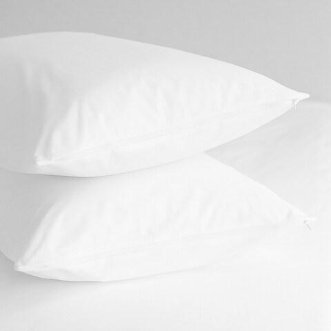 Home Fashion Designs Premium Hypoallergenic Cotton Pillow Protectors (Set of 4) - White