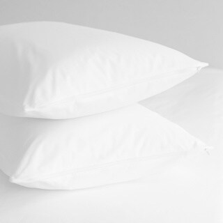 Home Fashion Designs Premium Hypoallergenic Cotton Pillow Protectors (Set of 4) - White