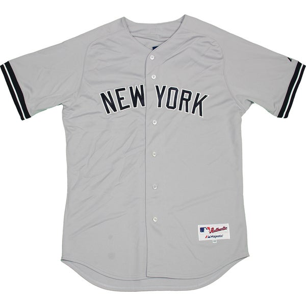 Majestic Authentic New York Yankees Gray Away Jersey (XL) - Bulk, Size 48