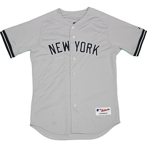 new style 2fd35 1191a Majestic Authentic New York Yankees Gray Away Jersey (XXL) - Bulk, Size 52
