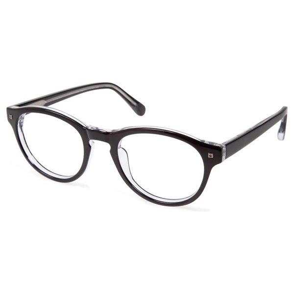 dc1c6d2840d Cynthia Rowley Eyewear CR5009 No. 39 Black Round Plastic Eyeglasses