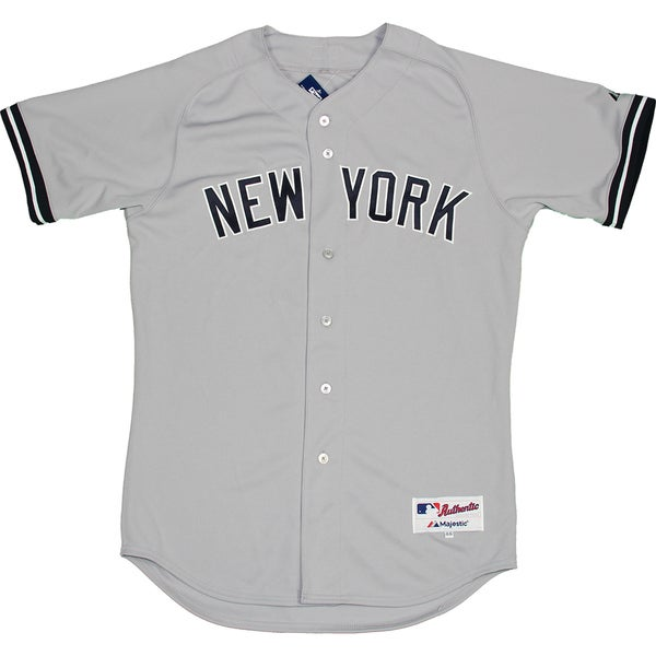 Shop Majestic Authentic New York Yankees Gray Away Jersey (L) - Bulk ... 89dd9880866