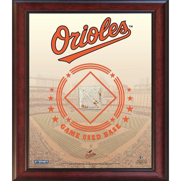 Baltimore Orioles Game Used Base 11x14 Stadium Collage
