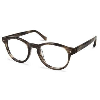 Cynthia Rowley Eyewear CR5009 No. 39 Green Horn Round Plastic Eyeglasses