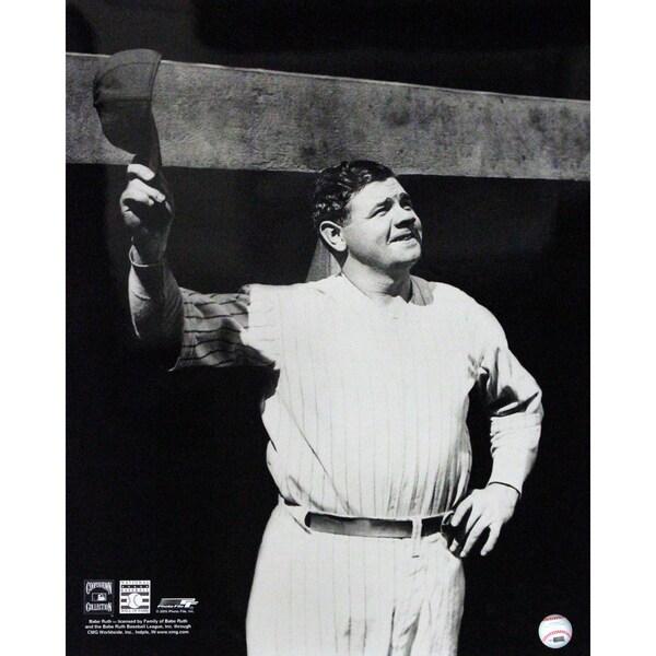Babe Ruth Tip Cap at Dugout 16x20 (PF)
