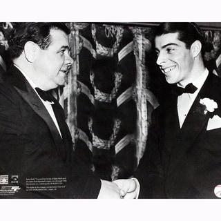 Babe Ruth Shaking Joe DiMaggio's Hand 16x20 (PF)