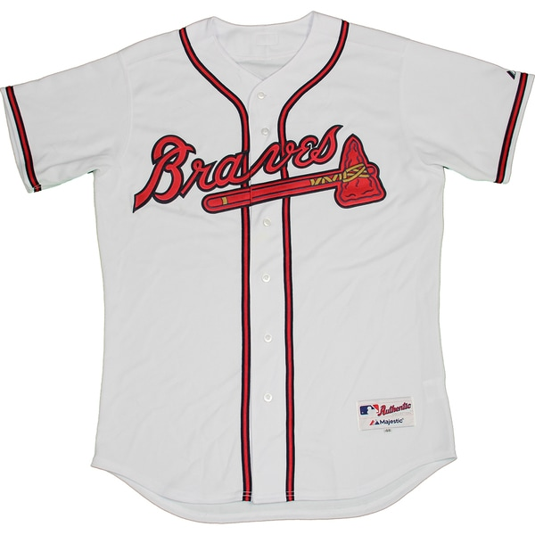 Atlanta Braves Home Authentic Jersey (Size 48)