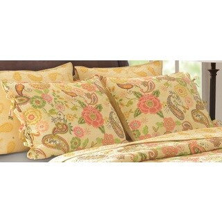 Greenland Home Fashions Sunset Paisley Cotton Sham Pair (Set of 2)