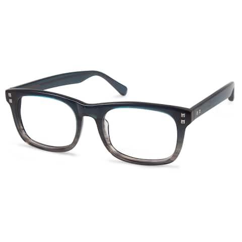 Cynthia Rowley Eyewear CR6015 No. 99 Teal Fade Round Plastic Eyeglasses