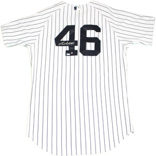 Andy Pettitte Signed Pettitte Retirement Logo Authentic Home Yankees Jersey (MLB Auth)