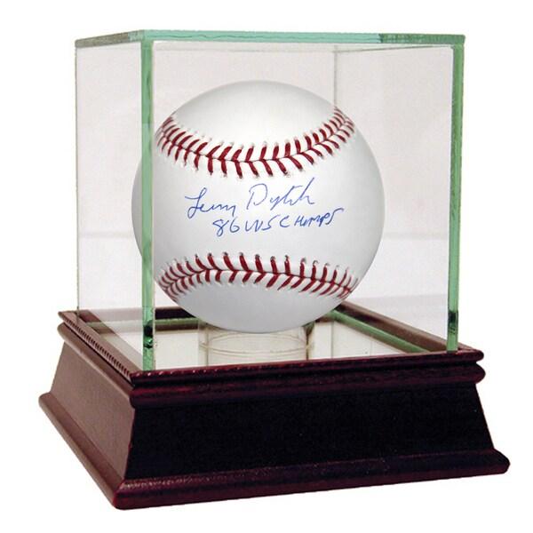 Lenny Dykstra Signed MLB Baseball w/ 86 WS Champs Insc