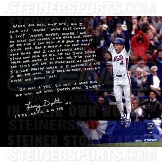 Lenny Dykstra Signed 1986 N.L.C.S GW HR 16x20 Story Photo
