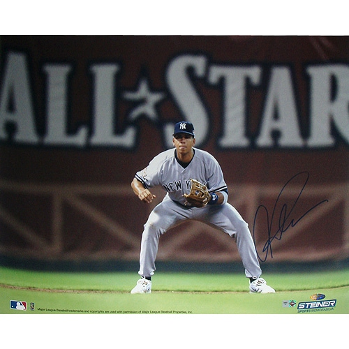 Alex Rodriguez Signed Fielding w/ All-Star in Background 16x20 Photo (MLB Auth)