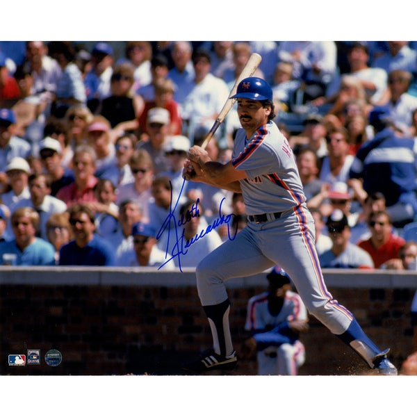 Keith Hernandez Signed Slapping Single to Left at Wrigley Field