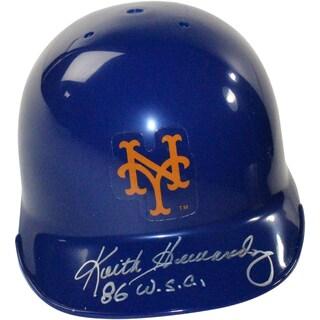 "Keith Hernandez Signed New York Mets Mini Batting Helmet w/ ""86 WSC"" Insc (MLB Auth)"