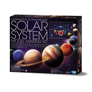 4M 3D Glow-In-The-Dark Solar System Model Making Science Kit