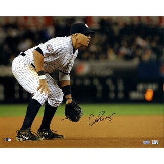 Alex Rodriguez 2009 WS Home Jersey Fielding Horizontal 16x20 Photo (MLB Auth) (FOR IN THE GAME COLLAGE)