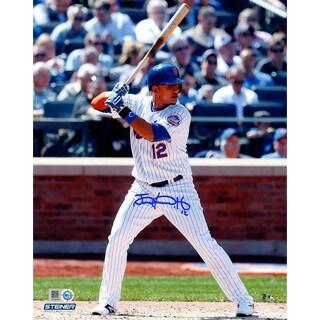 Juan Lagares Signed New York Mets At Bat 8x10 Photo