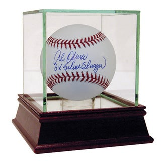 "Al Oliver Autographed Baseball w/ ""3x Silver Slugger"" Inscription"