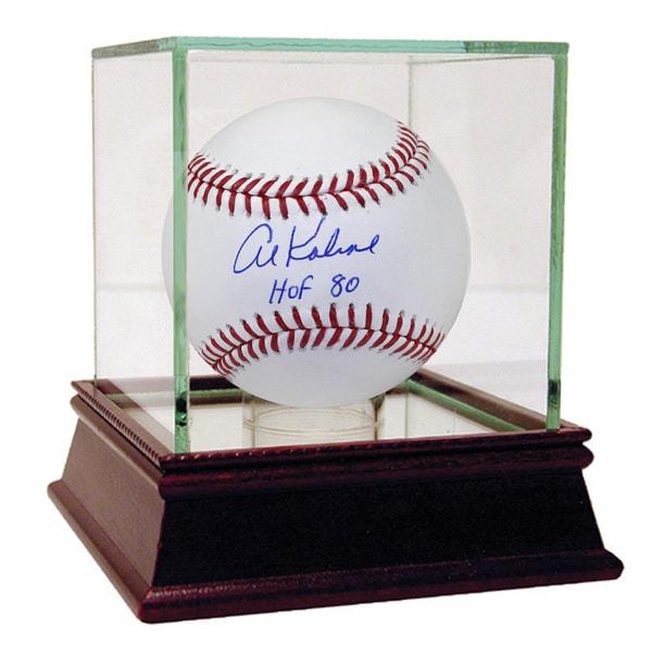 """Al Kaline Signed MLB Baseball w/ """"HOF"""" Insc."""